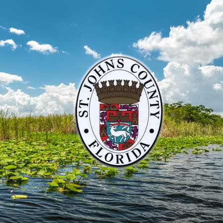 St Johns County Logo on river