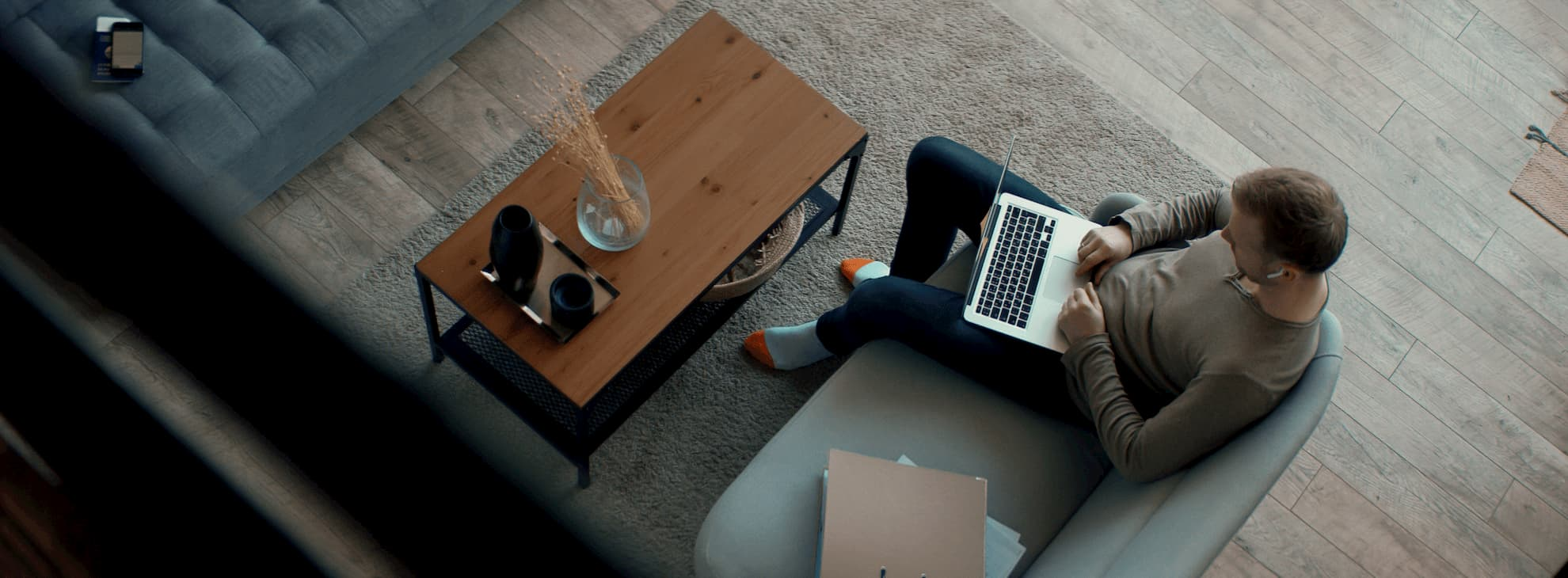 Employee working from a remote location