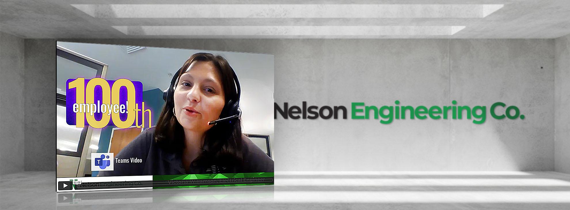 Nelson Engineering 100th Employee Victoria Williamson